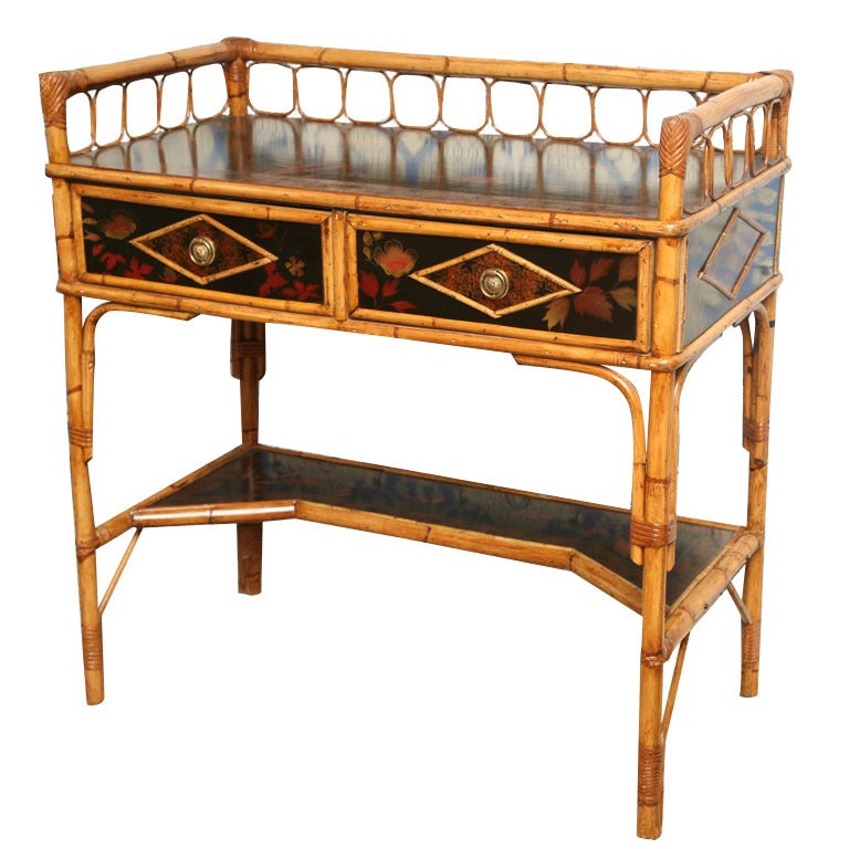 19th Century English  Bamboo Writing Table or Desk For Sale