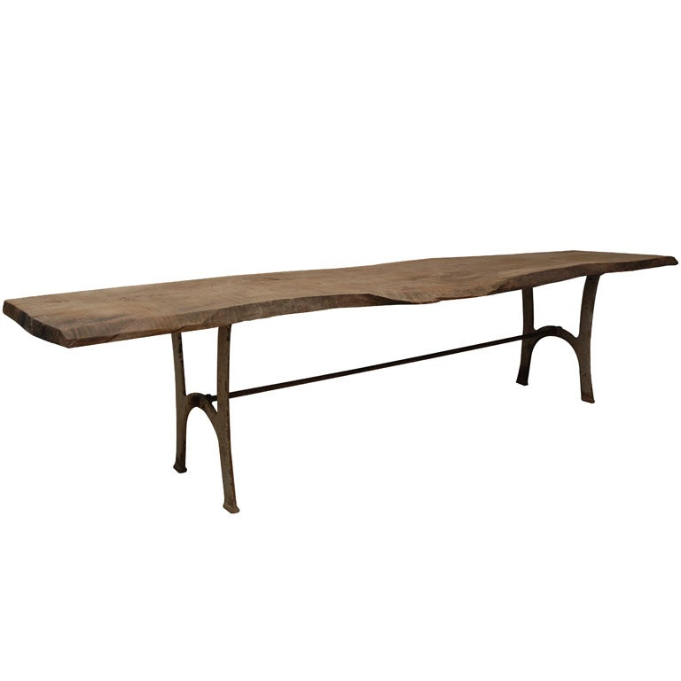 Antique Walnut Bench Low Table At 1stdibs