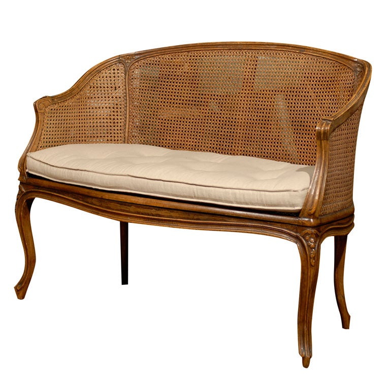 French cane settee at 1stdibs