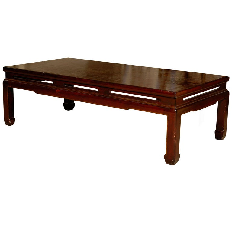 Chinoiserie Coffee Table In Red Lacquer At 1stdibs