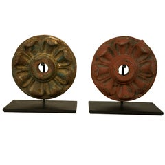 Pair of Late 19th Century Architectural Rosettes