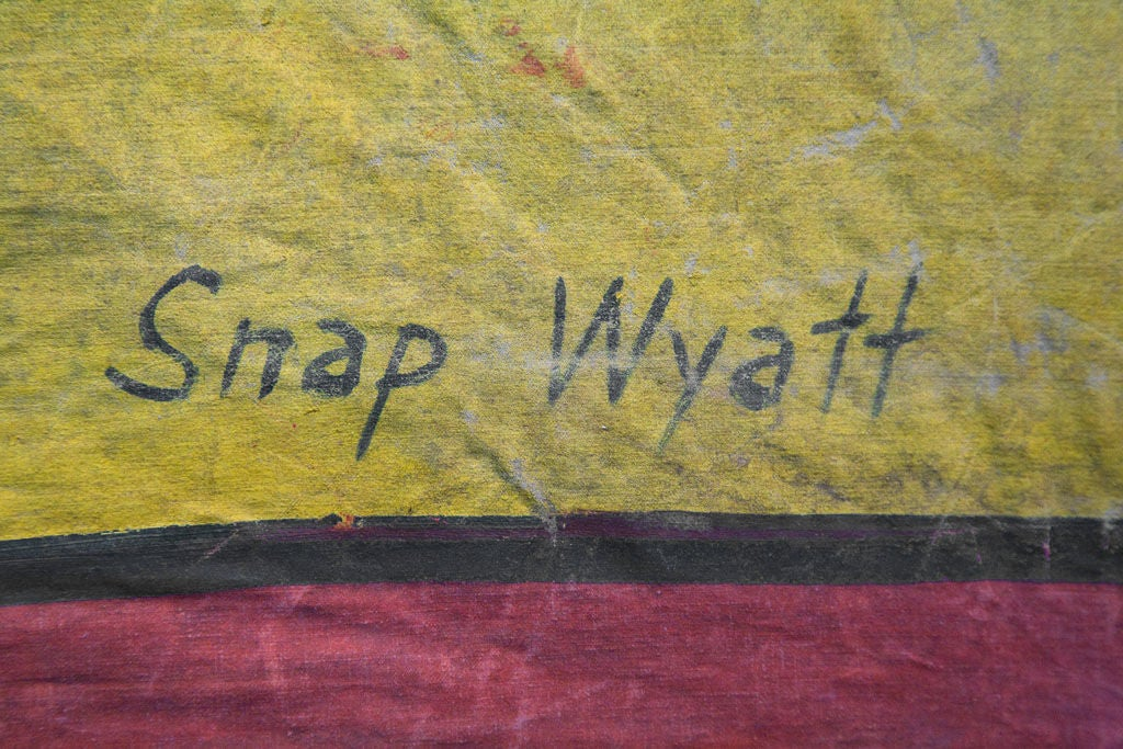 Signed Snap Wyatt Sideshow Banner In Good Condition For Sale In Santa Monica, CA