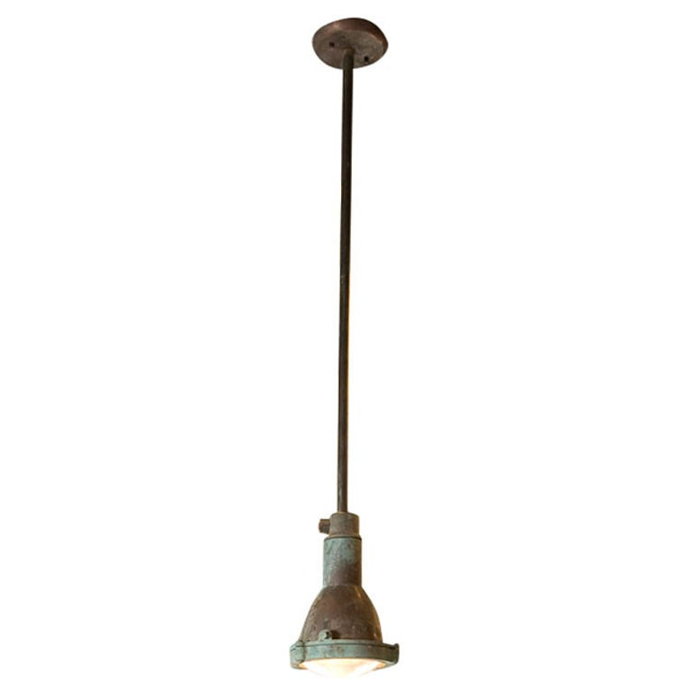 Industrial Copper Factory Light For Sale