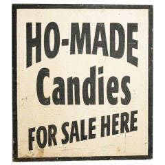 Graphic Chicago Candy Factory Sign