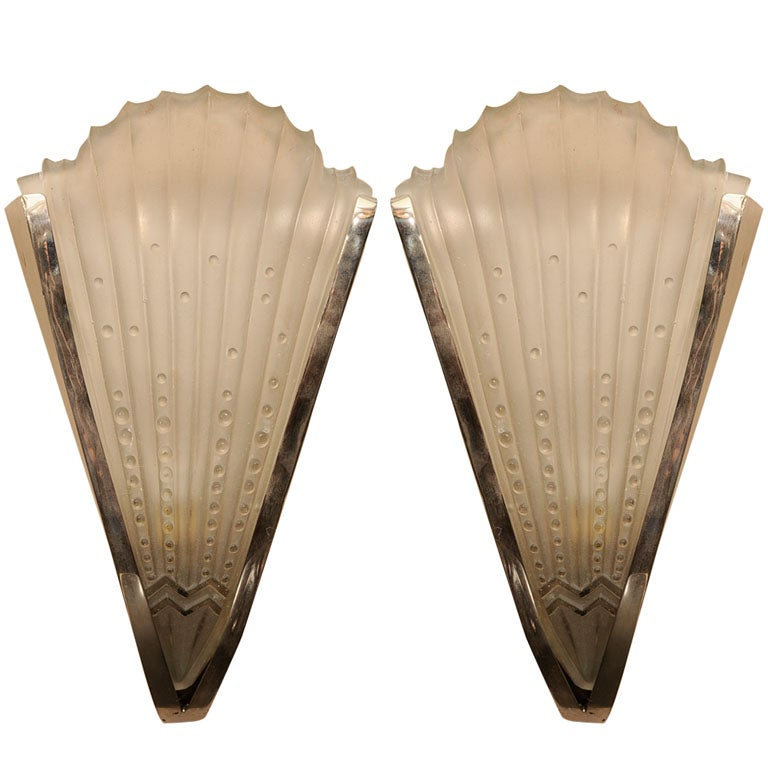 pair of art deco wall sconces at 1stdibs