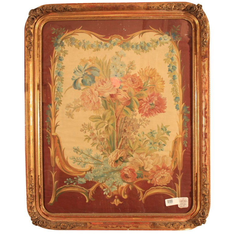 French cartoon floral pattern rococo style frame oil on for Rococo style frame