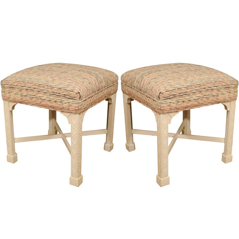 Pair of moroccan style upholstered benches at 1stdibs Moroccan bench