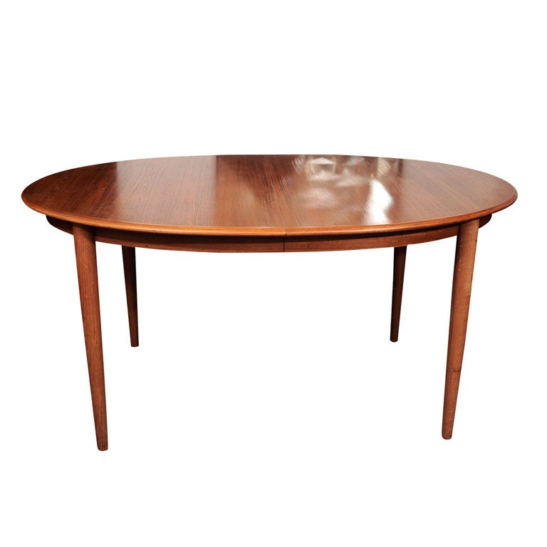 Danish Teak Dining Table with Extensions
