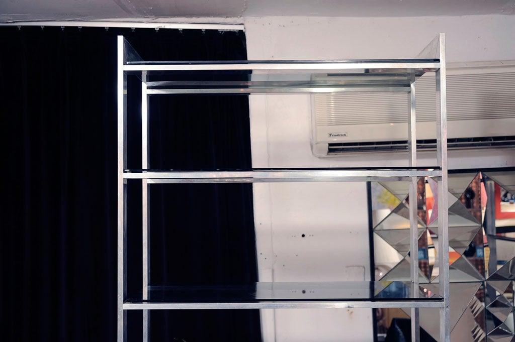 Pair polished aluminum etageres at 1stdibs - Etagere aluminium design ...