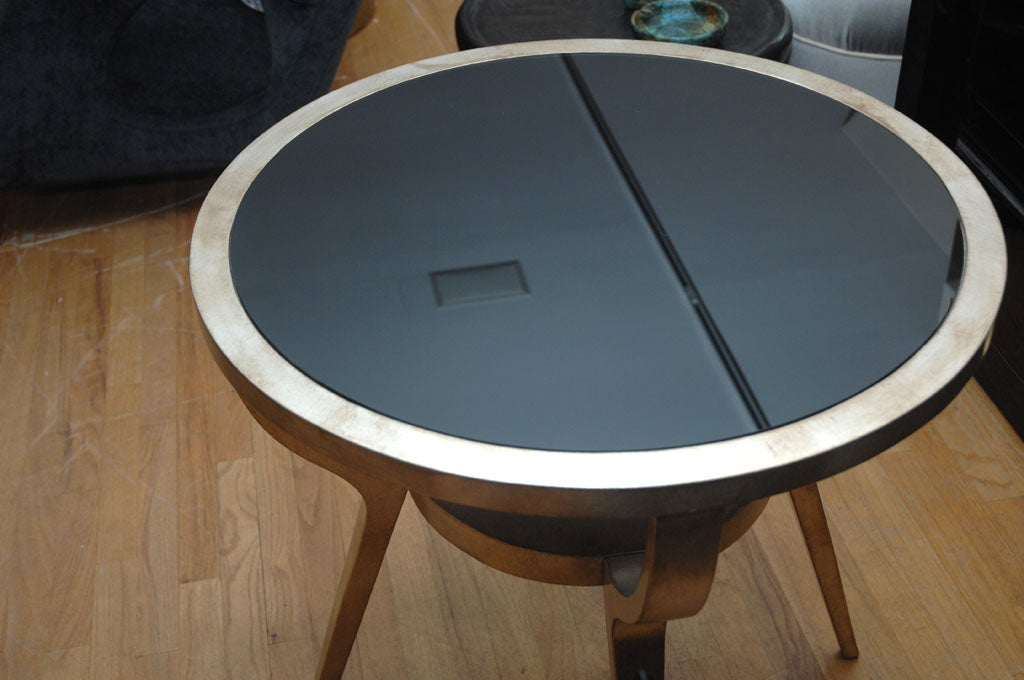 Beautiful Silver Leafed Side Table By James Mont 8