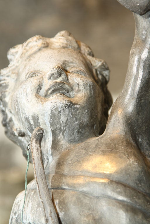 English Fine Lead Statue of Cupid 'Eros' For Sale