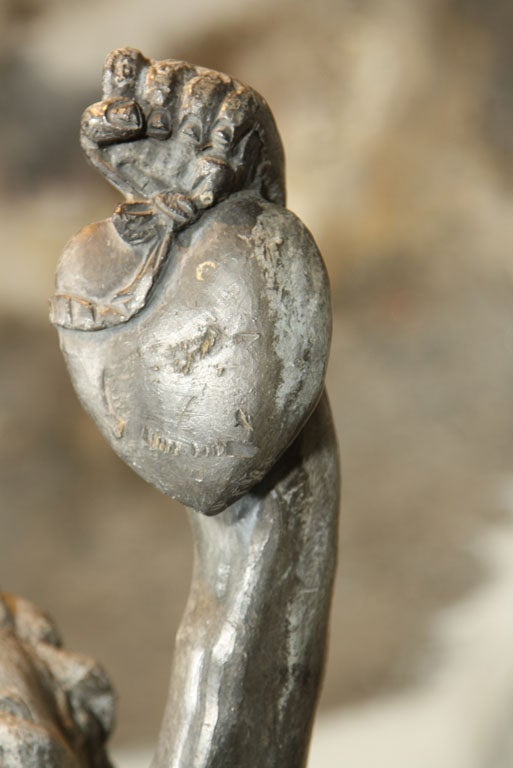 Hand-Crafted Fine Lead Statue of Cupid 'Eros' For Sale