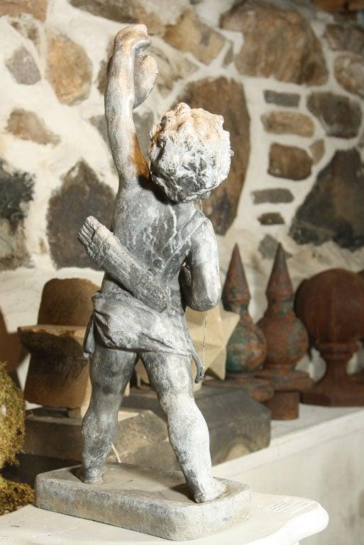 Copper Fine Lead Statue of Cupid 'Eros' For Sale