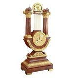 Large Empire Lyre Clock