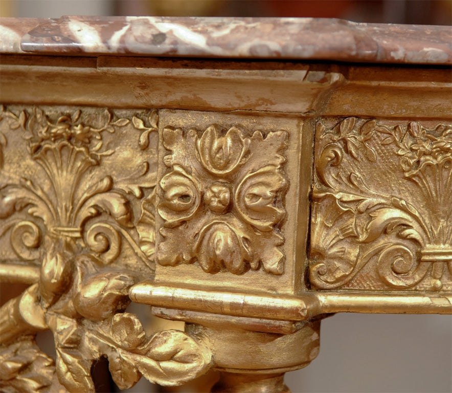 19th Louis XVI Console/with marble top 4