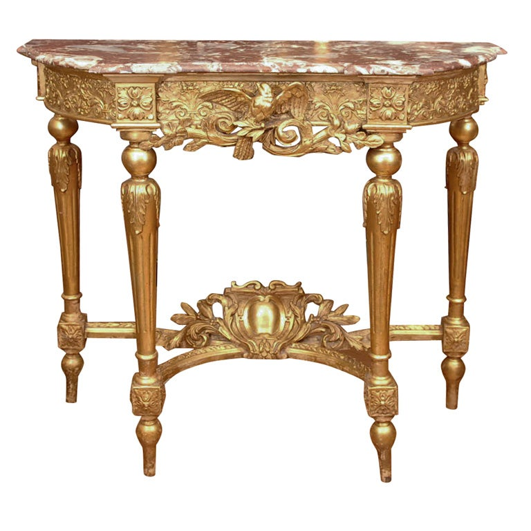 19th Louis XVI Console/with marble top 1