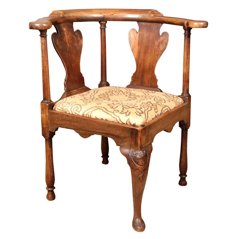 George III Roundabout Smoking Chair at 1stdibs