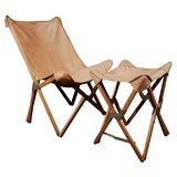 Folding Butterfly Chair and Stool