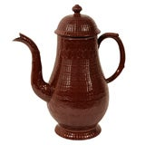 Antique Redware Coffee Pot