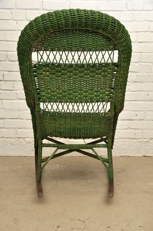 Vintage Wicker Rocking Chair image 4