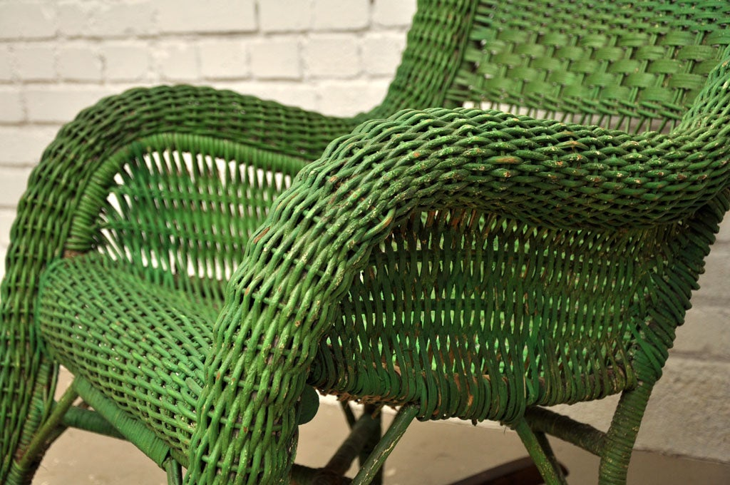 Vintage Wicker Rocking Chair image 7