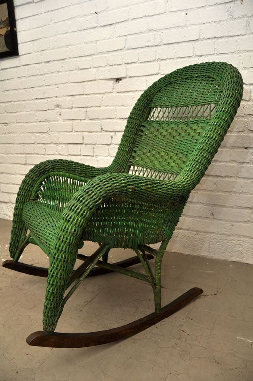 Vintage Wicker Rocking Chair image 8