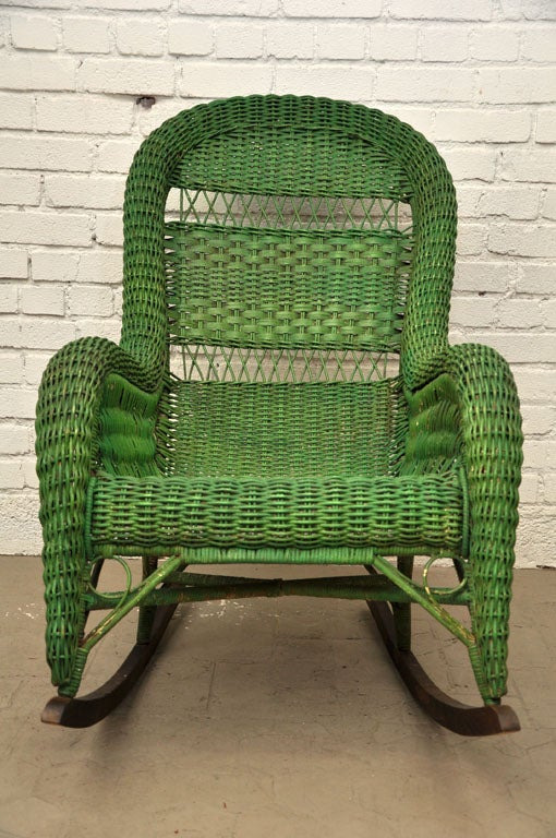 Vintage Wicker Rocking Chair image 9