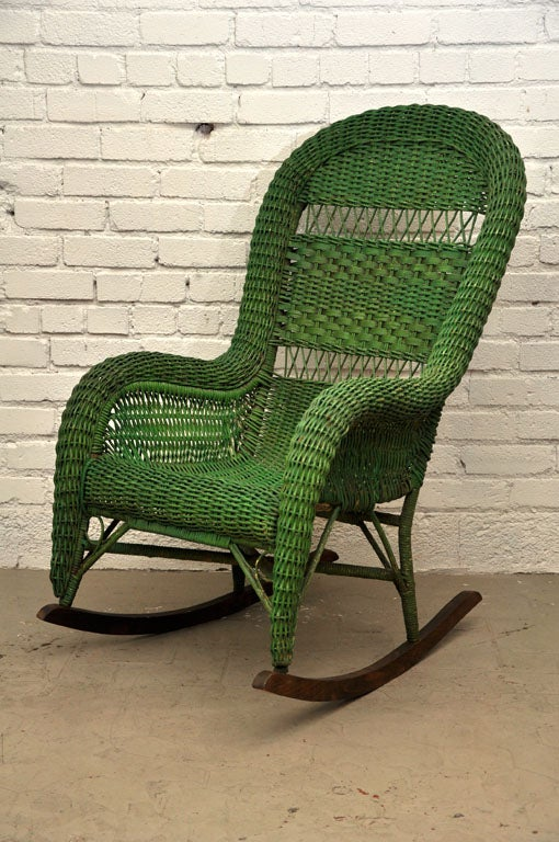 Vintage Wicker Rocking Chair image 2