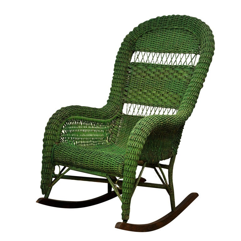 Vintage Wicker Rocking Chair