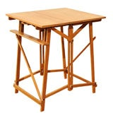 Campaign Style Teak Easel Table
