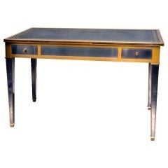 60's 70's Brushed Steel And Brass Tric Trac Table