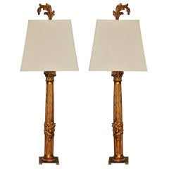 Pair of 1860 French Columns as Lamps
