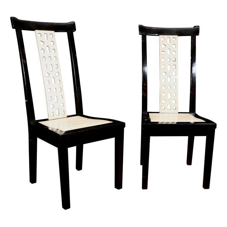 6 Black and Creme Lacquered Side Chairs at 1stdibs : xIMG0632 from www.1stdibs.com size 768 x 768 jpeg 42kB