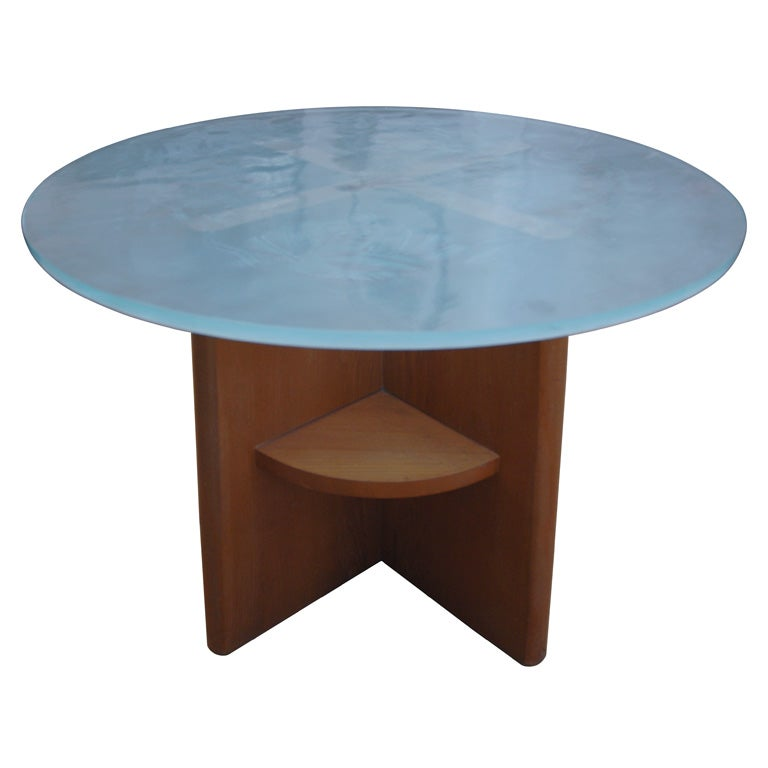 French Etched Glass Mythology Coffee Table At 1stdibs