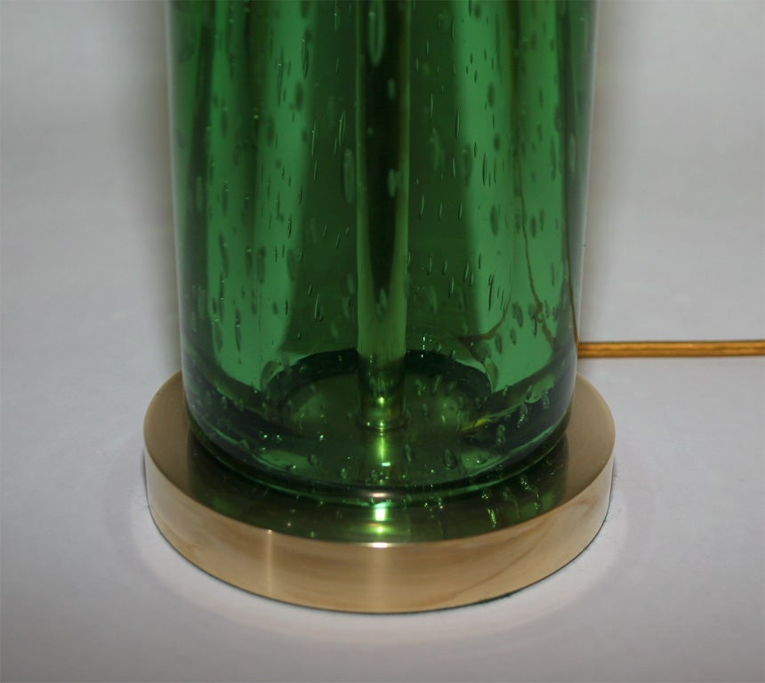 Pair of Art Glass Table Lamps In Excellent Condition For Sale In New York, NY