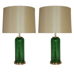 Pair of Art Glass Table Lamps