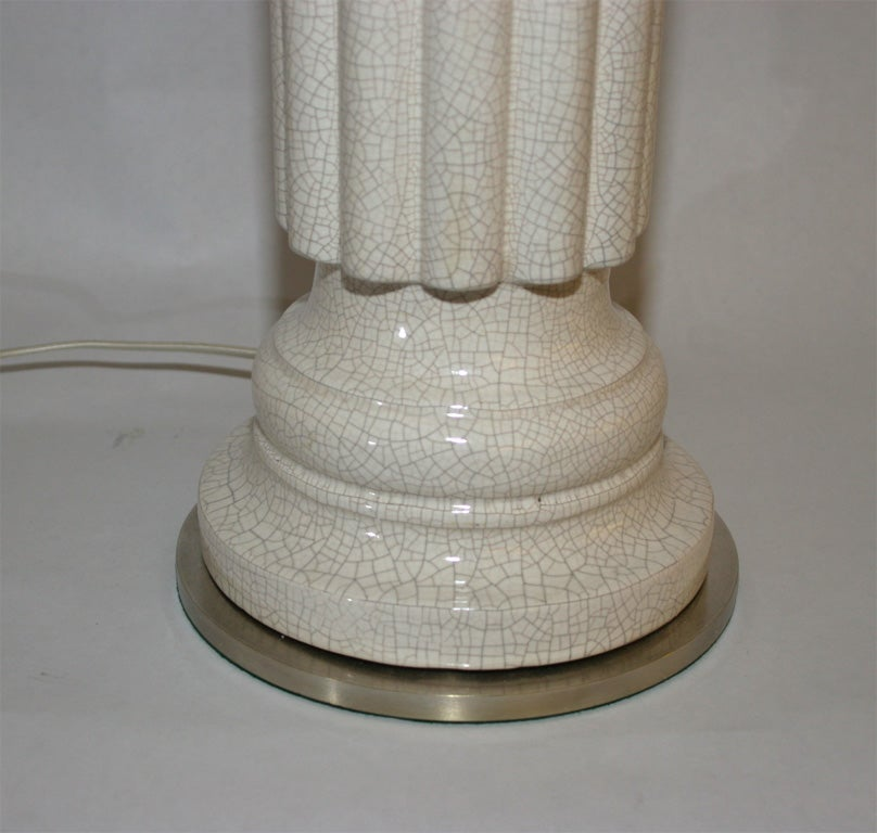 Pair of Architectural Porcelain Table Lamps 2