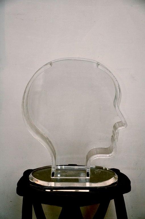 Late 20th Century Plexiglass Vase / Fish Tank by Nicola L.