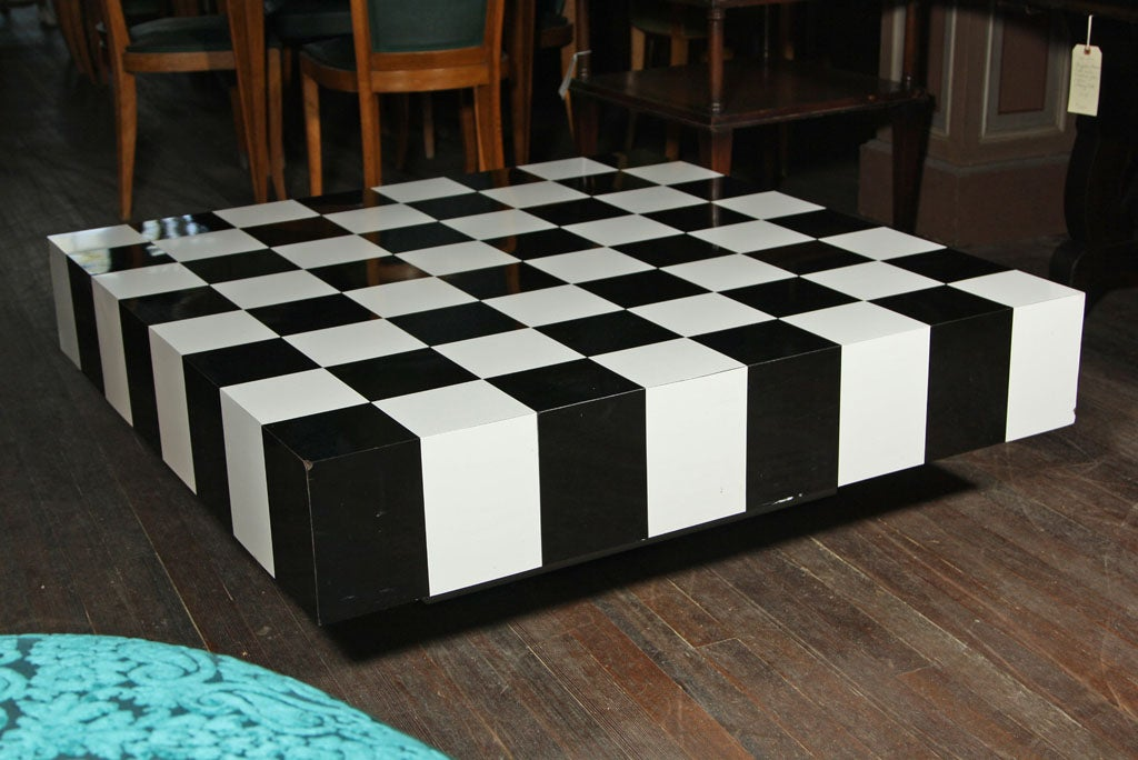 High Quality Black And White Checkerboard Coffee Table 3