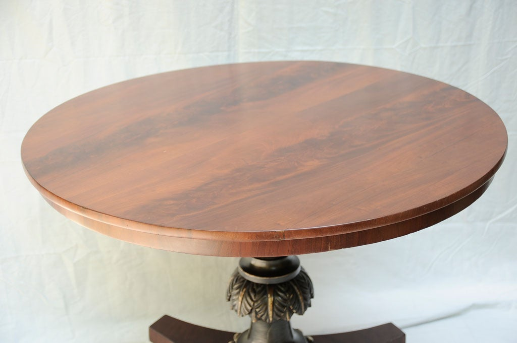 Round dutch neoclassic design center table for sale at 1stdibs for Round centre table designs