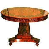 A Fine Paint Decorated Regency Mahogany Center Table