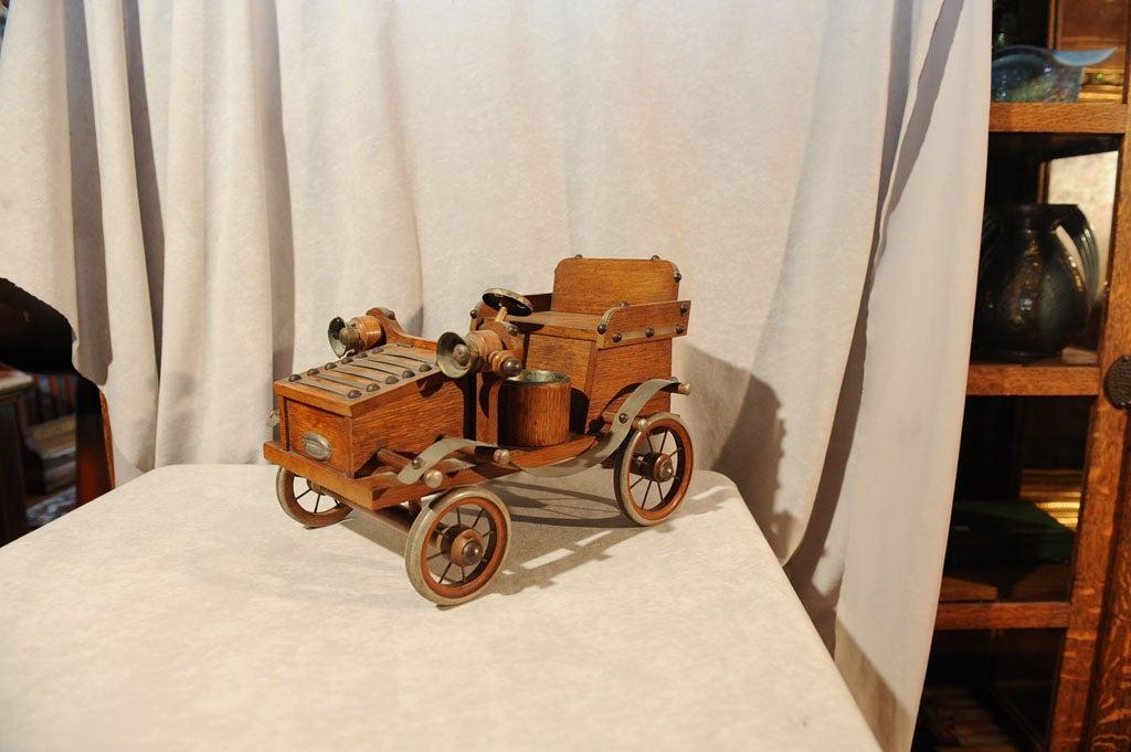 Oak Tobacco Caddy Antique Car At 1stdibs