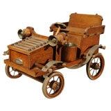 Oak Tobacco Caddy/Antique Car