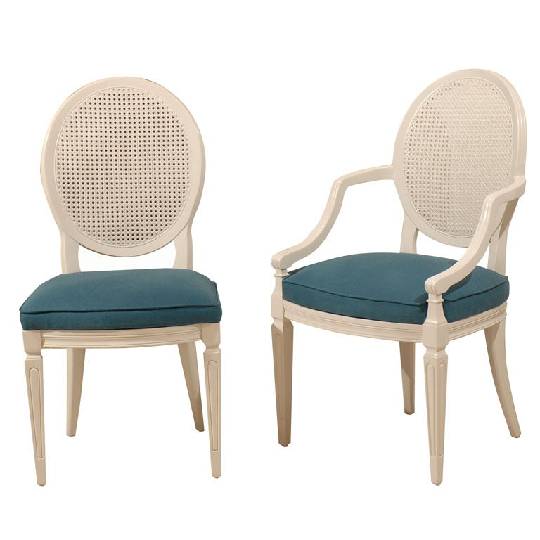Oval Cane Back Chairs At 1stdibs