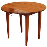 Antique French walnut round table