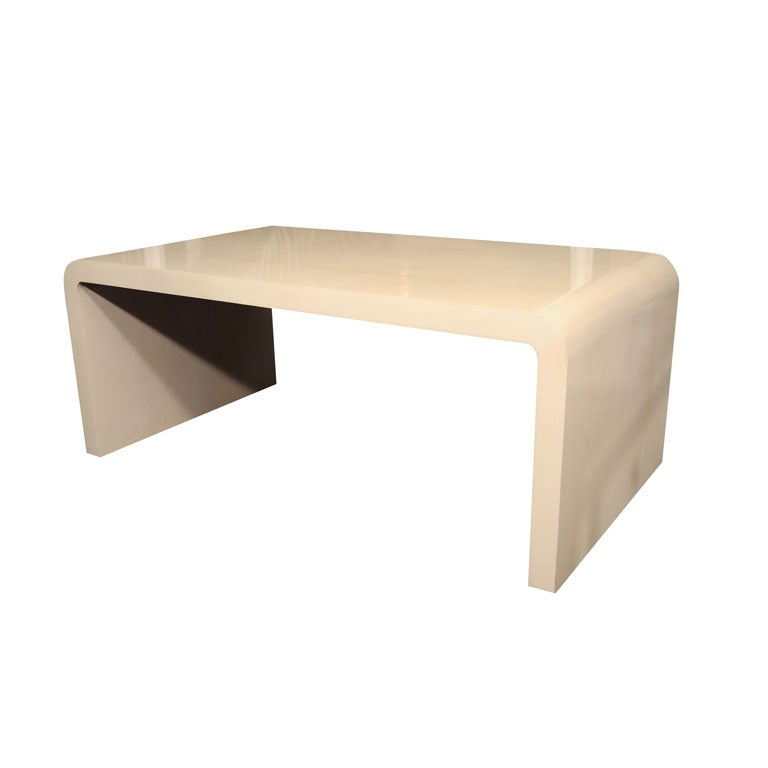 Parchment Water Fall Coffee Table