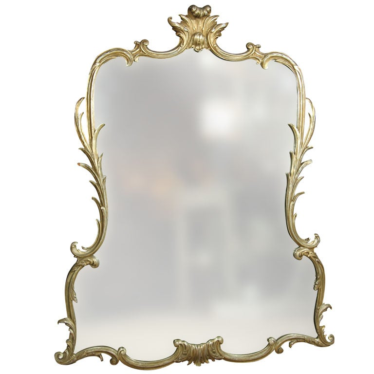 Fine carved mirror prov waldorf astoria ny stamped for Waldorf astoria antiques