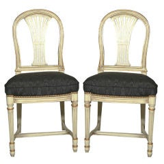 Set of 8 Gustavian Style Dining Chairs
