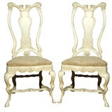 Pair of Two Maison Jansen High  Back Chairs