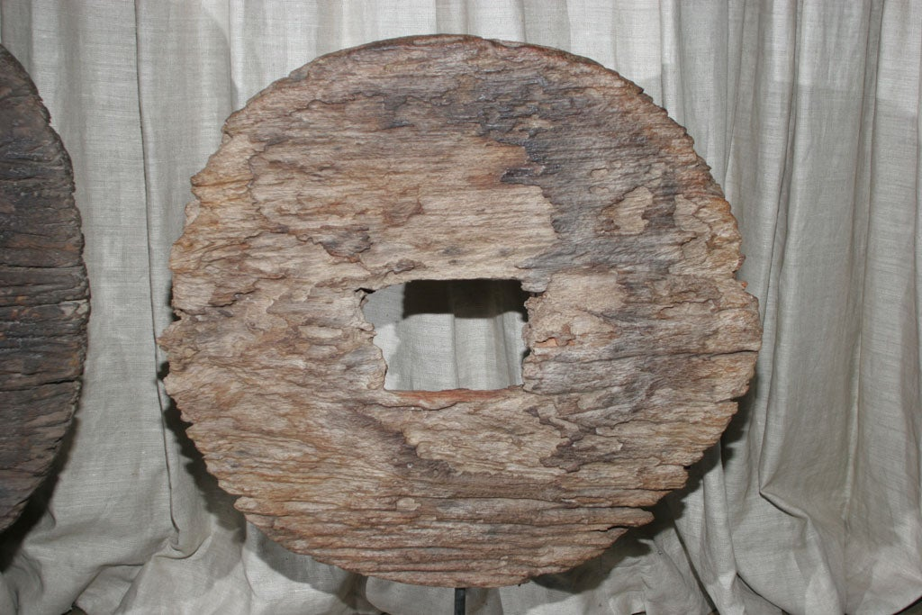 Wood Cart Wheel Scupture image 3